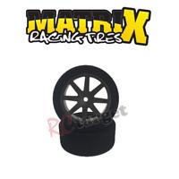Matrix 1:10 RC Foam Touring Car tires (2) Rear 30mm, 37 Shore Carbon