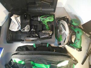 Hitachi 12V Steel Cordless Drill-Case-Saw-Carrying Bag Please Read Description
