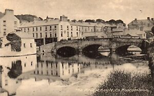 THE BRIDGE BOYLE CO ROSCOMMON IRELAND LAWRENCE POSTCARD for McDONAGH SCHOOL STRs
