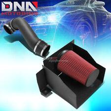 FOR 03-09 HUMMER H2 GMT913 SUT 6.0L/6.2L V8 WRINKLE BLACK AIR INTAKE+HEAT SHIELD