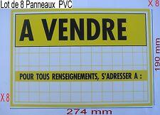 Lot 8 Panneaux ,Adhésif ou à Visser Signalisation en PVC,,274 x 190 mm, A VENDRE