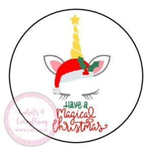 Christmas  Unicorn Head Sticker Party Bag Birthday Chocolate Coin Easter Sweet