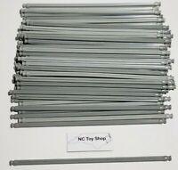 "50 K'NEX Light-Medium Gray Rods 7.5"" Bulk Standard Lot Replacement Parts KNEX"