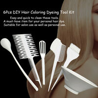6Pc Hair Colouring Brush & Big Bowl Set Bleaching Dye Kit Salon Beauty Comb Tint