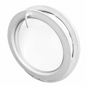Oeil de boeuf à soufflet blanc PVC avec double ou triple vitrage