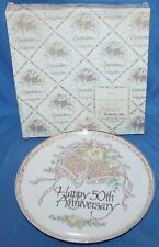 Vintage 1987 Roman Inc. 50th Anniversary Decorative Plate 60303
