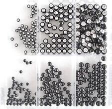Schraubkugel Piercing Kugel black Titan Kristall weiß eingefasst Studio Qualität