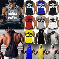 Men's Gym Vest Sports Stringer Sleeveless Tank Top Relaxed T Shirt Bodybuilding