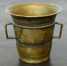 1700's 1800's ANTIQUE Vintage BRASS Bronze MORTAR for PESTLE Apothecary Pharmacy