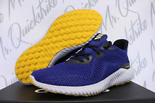 ADIDAS ALPHABOUNCE M SZ 10.5 RUNNING SHOE MYSTERY INK CORE BLACK YELLOW BW1