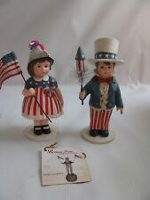 Sam and Betsy 2 children  Patriotic Clothing Bethany Lowe Uncle Sam  Betsy Ross