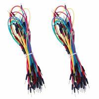 130pcs Solderless Flexible Breadboard Jumper Wires male to male for Arduino