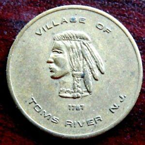 VINTAGE VILLAGE OF TOMS RIVER DOWNTOWN 1/2 HOUR COURTESY PARKING TOKEN W/INDIAN!
