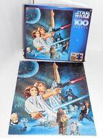 Star Wars Puzzle Rose Art 1996 Luke Skywalker Leia Space Vintage