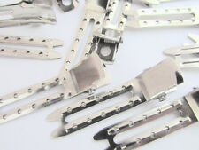 """48 Silver 1.8"""" Double Prong Sewing Holes Hair Clip/Bow Supply/clippes/New L98-B"""