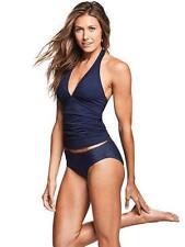 NWT Athleta L Large Dress Blue Navy Shirrendipity Halter Tankini Top Swim Surf