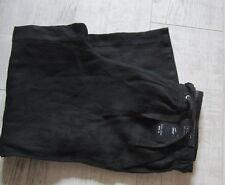 M&S Ladies COLLECTION Linen CROP Trousers Size 8 New With Tags BLACK RRP 19.50