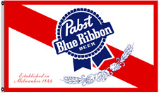 Pabst blue ribbon beer 3X5Ft garage Wall Bar Advertising banner flag
