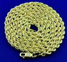3.30 Grams 14K Solid Yellow Gold Hollow Rope Necklace Chain  20 Inch Brand new