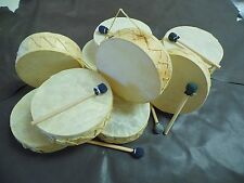 "10 Rawhide Drums, 7"" Wholesale set, Gift shops,Souvenirs, Southwest Decor,Crafts"