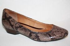 INDIGO by CLARKS SNAKE PRINT SLIP ON WEDGE HEEL FLATS LOAFERS SHOES WOMENS 6 M