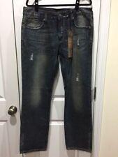 VIGOSS Size 36 x 33 Men's Distressed Straight Leg Jeans NWT