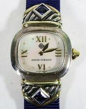 David Yurman sterling silver & lolite womens watch 14kgold, Mother of Pearl Dial