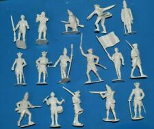 Marx AWI sets  White Plastic figures British Redcoats and Americans