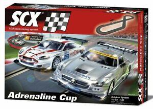SCX C3 Adrenaline Cup 1/32 Slot Car Set Mercedes Aston Martin A10130X5U0 - NEW
