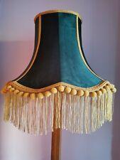 Green velvet mustard large lampshade handmade standard lamp ceiling pendant