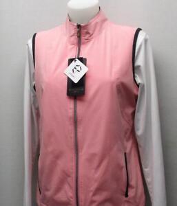 New Ladies MEDIUM EP Pro Golf polyester sleeveless Impression windvest PINK