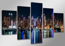 Bild 200x100 cm 5 tlg New York echte Leinwand XXXL Bilder Nr 6309>  Visario
