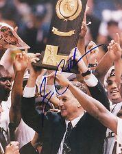 Signed coach Jim Calhoun autograph 8x10 photo University Connecticut Uconn Coa