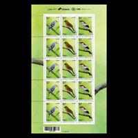 Birds Araripe Purple Blue-eyed Full Sheet 15 stamps gummed 鳥類 Chōru 鸟类 Birdpex
