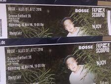 2 Tickets für Bosse 10.11.18 Hamburg Große Freiheit 36 Ausverkauft