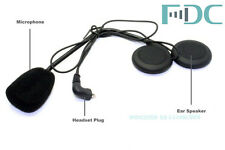 1x Headset Microphone Earpiece For FDC/T-COM/COLO Motorcycle Bluetooth Intercom