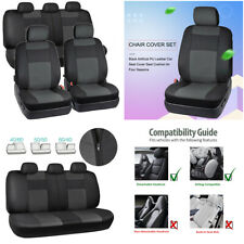 9Pcs Car Seat Cover Artificial Leather Cushion Full Set For Interior Accessories