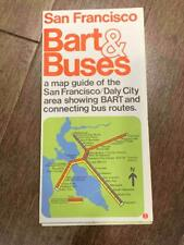 Bart & Buses Map Guide of San Francisco Daly City Area Bus Routes Vintage 1975