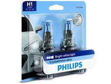 2x NEW PHILIPS CRYSTAL VISION H1 12258CVB2 HALOGEN HEADLIGHT BULBS | PACK OF 2