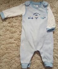JUNIOR J WHITE & BLUE spogliato Salopette e canotta a maniche lunghe 3-6 mesi