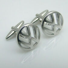 Men's French shirt Stainless steel  button silver car logo V Cufflinks