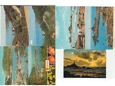 7 postcards Jersey 4 x Bouley Bay & 3 x Corbiere Lighthouse