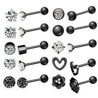 2 Zircon Monroe Labret Stud Lip Ring Ear Cartilage Tragus Helix Piercing Earring