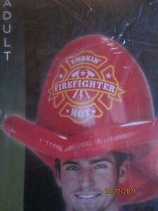 Novelty Firefighter Helmet Airblown Inflatable Smokin' Hot Halloween FAST SHIP