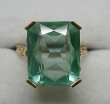 Lovely 18 carat Gold And Large Green Spinel Dress Ring Size O.1/2