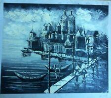 """Harbour Scene ART OIL PAINTING 20x24"""""""