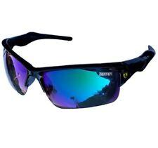 Sporty Car Logo Blue Lens Sunglasses Driving Sport Glasses - RAINBOW