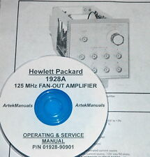 Hewlett Packard Ops & Service Manual for the 1928A 125 MHz Fan-Out Amplifier