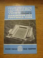 04/01/1964 Birmingham City v Port Vale [FA Cup] . Item In very good condition un