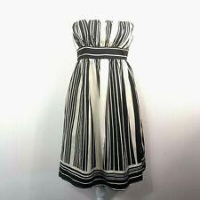 Anthropology Corey Lynn Calter Womens 100% Silk Strapless Dress Sz 6 Stripes